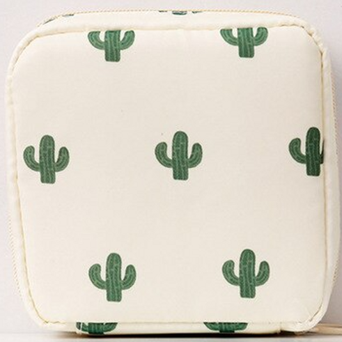 Cactus Ivory Reusable Mask Bag