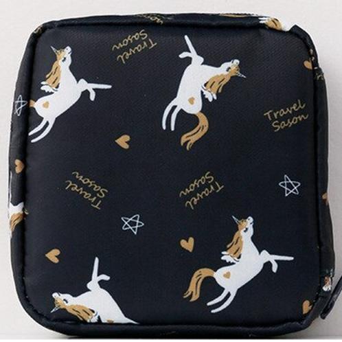 Unicorn Navy Reusable Mask Bag