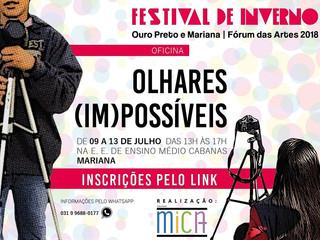 Festival de Inverno no bairro o Cabanas: oficina Olhares (Im)Possíveis propõe práticas audiovisuais
