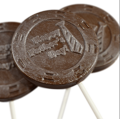Father's Day Medallions Choc Pops (x20)