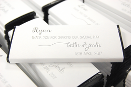 personalised wedding chocolate