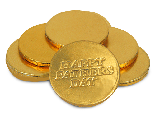 HAPPY FATHERS DAY Chocolate Coins (x50)