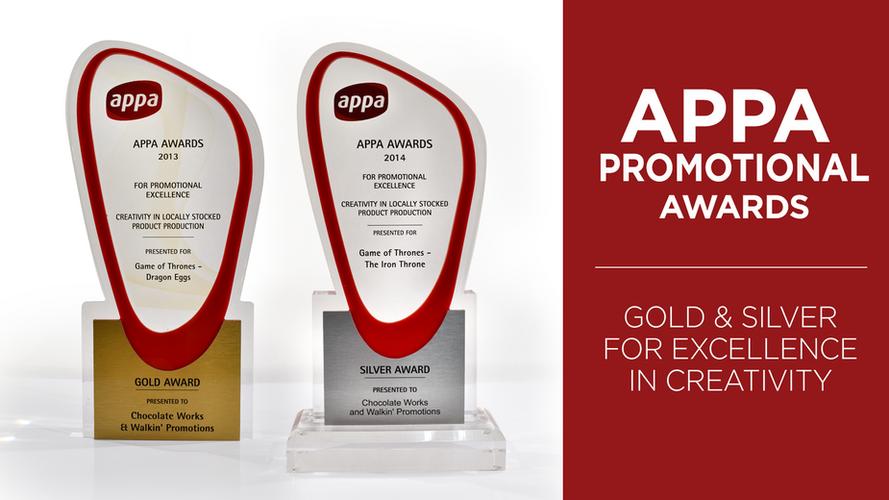APPA PROMOTIONAL AWARDS