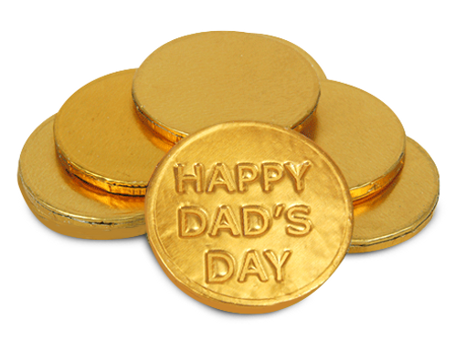 HAPPY DAD'S DAY Chocolate Coins (x50)