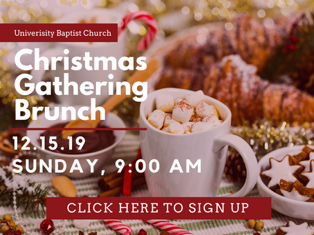 Christmas Gathering Brunch, December 15