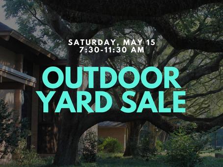 Outdoor Yard Sale, May 15