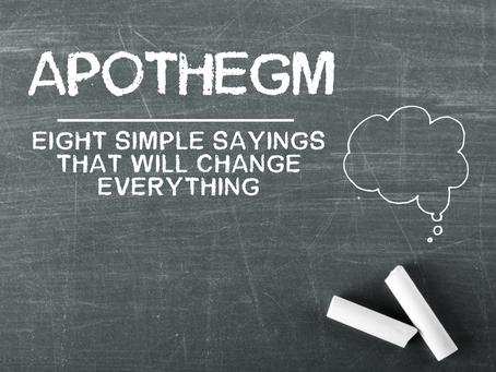 "New ""Apothegm"" Series Starting Sunday, January 10th"