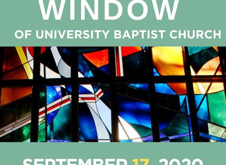 The Window: September 17, 2020
