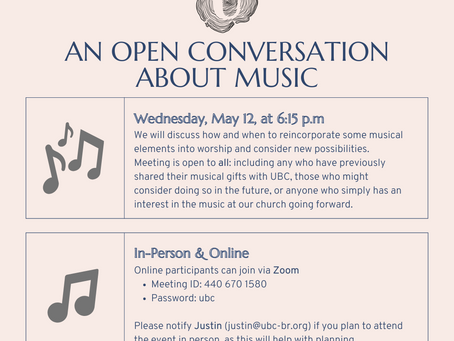 An Open Conversation About Music, May 12