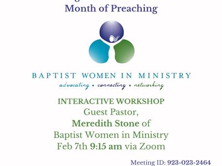 Martha Stearns Marshall Sunday, February 7