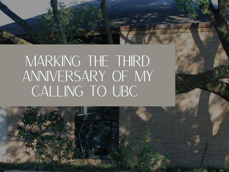 Marking the Third Anniversary of My Calling to UBC