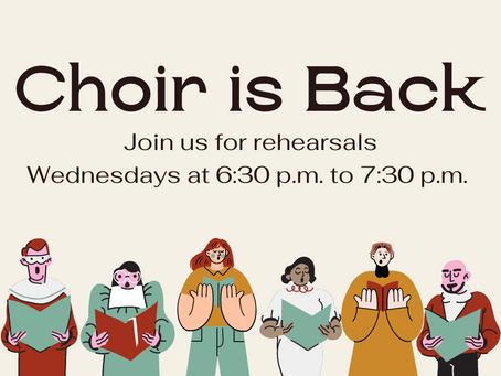 Choir is Back