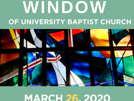 The Window: March 26, 2020