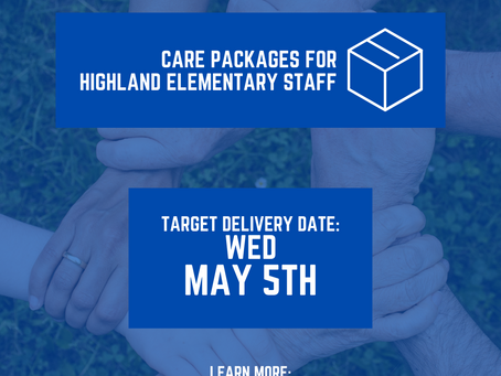 Care Packages for Highland Elementary Staff