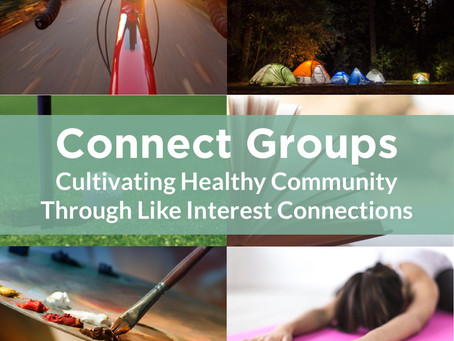 Invest Yourself In Connect Groups