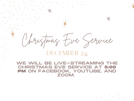 We Need to Celebrate Christmas Eve Together, in Spirit, While We Are Apart