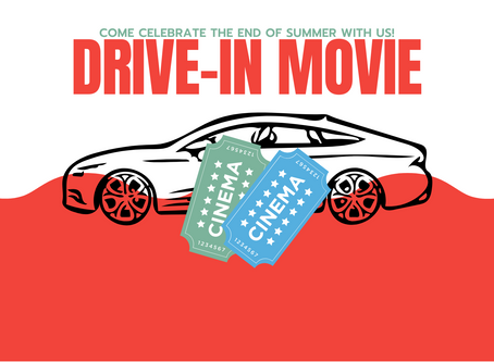 Drive-In Movie Night: September 18th at 7:00 pm