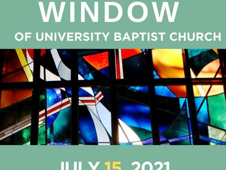 The Window: July 15, 2021
