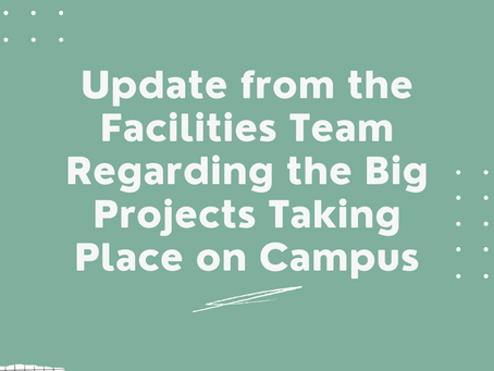 Update from the Facilities Team