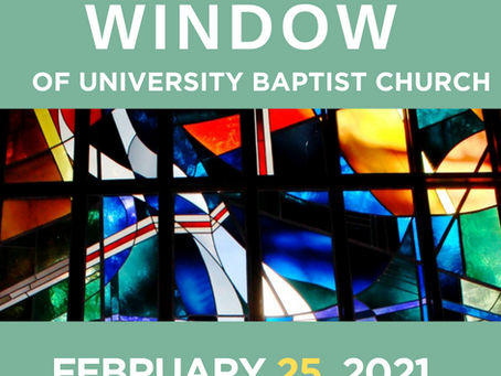 The Window: February 25, 2021