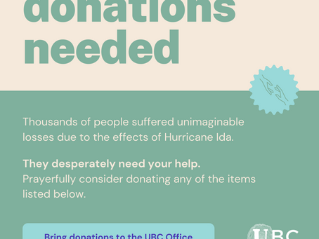 Disaster Relief Item Collection