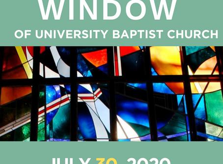 The Window: July 30, 2020