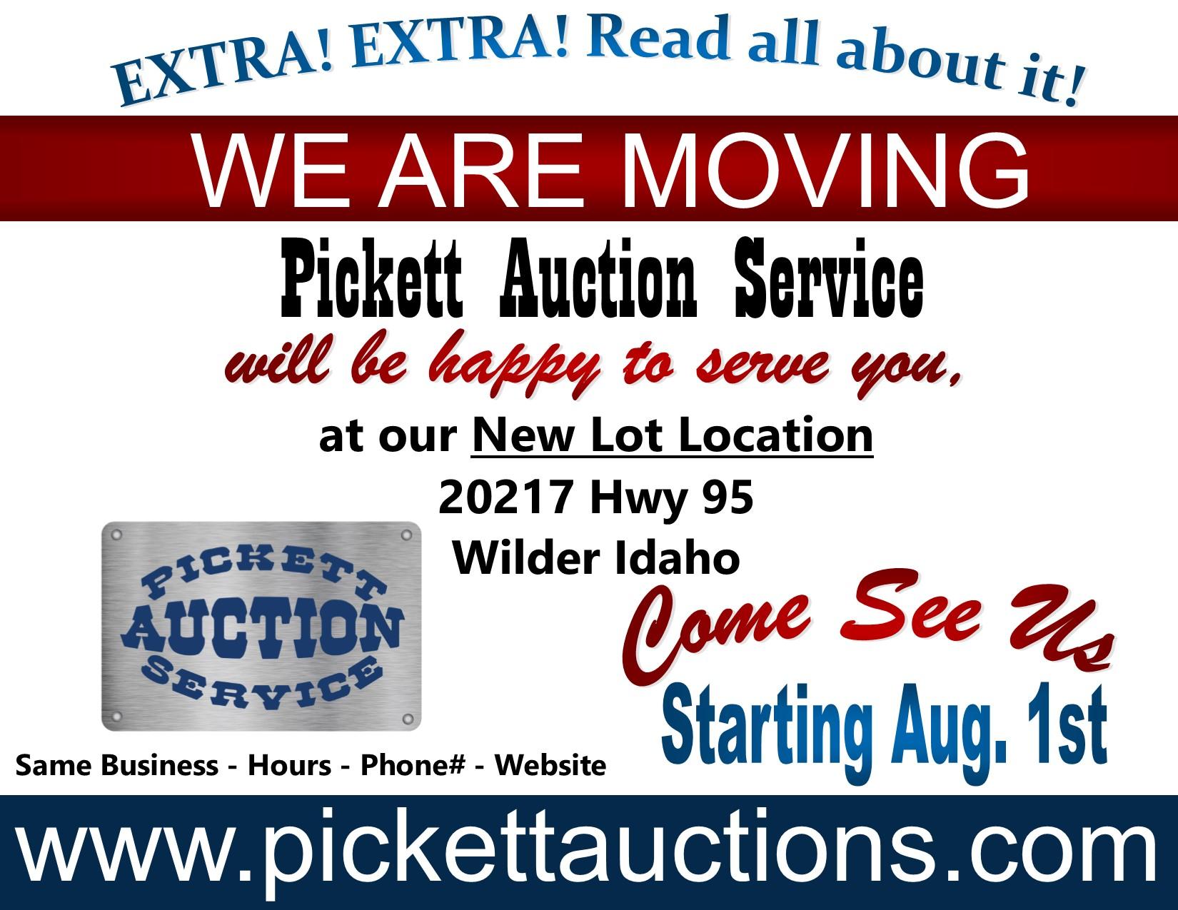 7c1b4fc8eb0 Pickett Auction Service LLC Greenleaf, Idaho