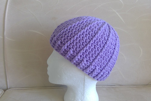 Pretty Mauve Crocheted hat