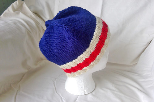 Royal Blue,Red & White Hat