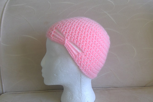 Pretty Pink Crocheted Hat