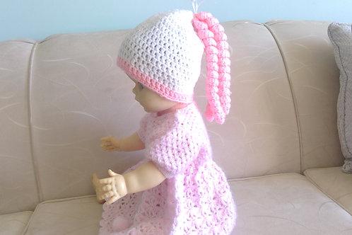 Pretty Little Crocheted Ringlet Hat