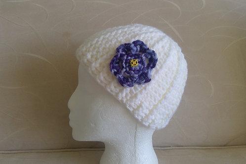 White & Purple Hat