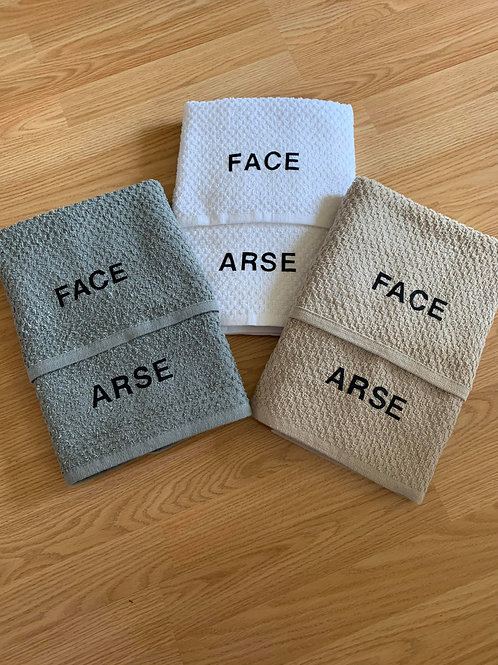 Face & Arse Towels