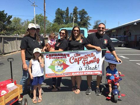 Caprara's Pizzeria Family Penngrove Parade