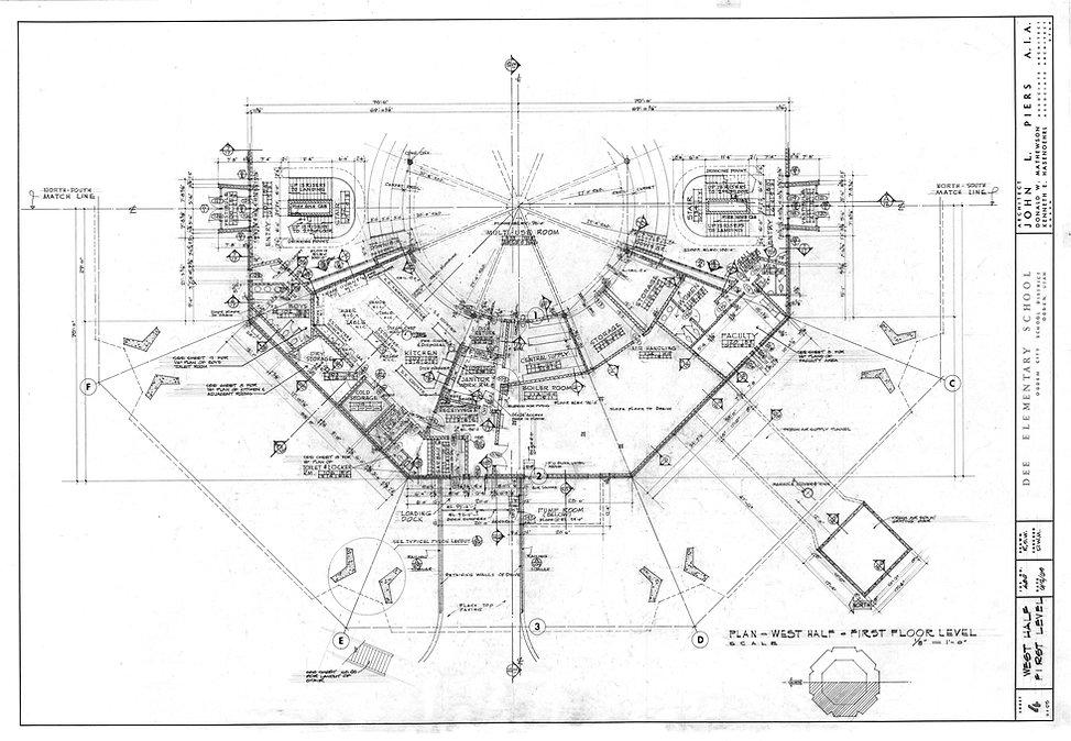 Dee Elementar School's Architectural Plans