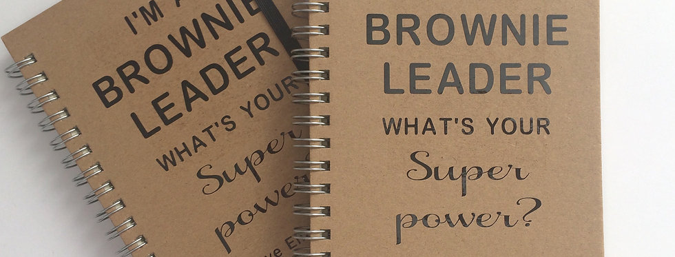 A6 'Super power' lined notebook