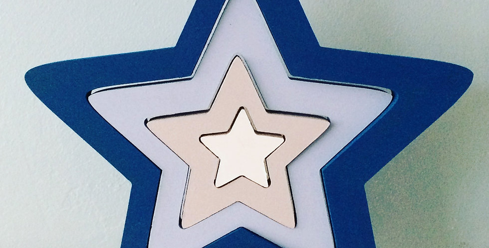 Interlocking, Handpainted Star Shelfie Set
