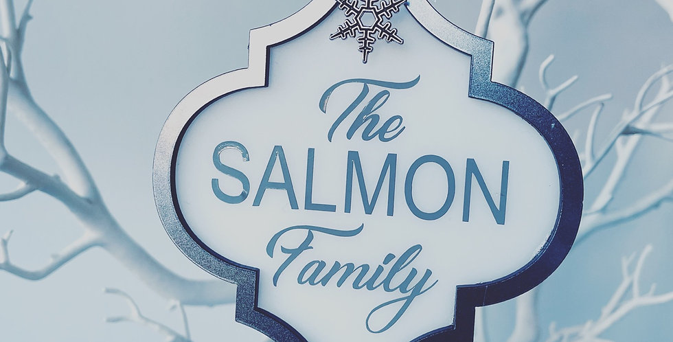 Personalised Family Arabesque Acrylic Decoration