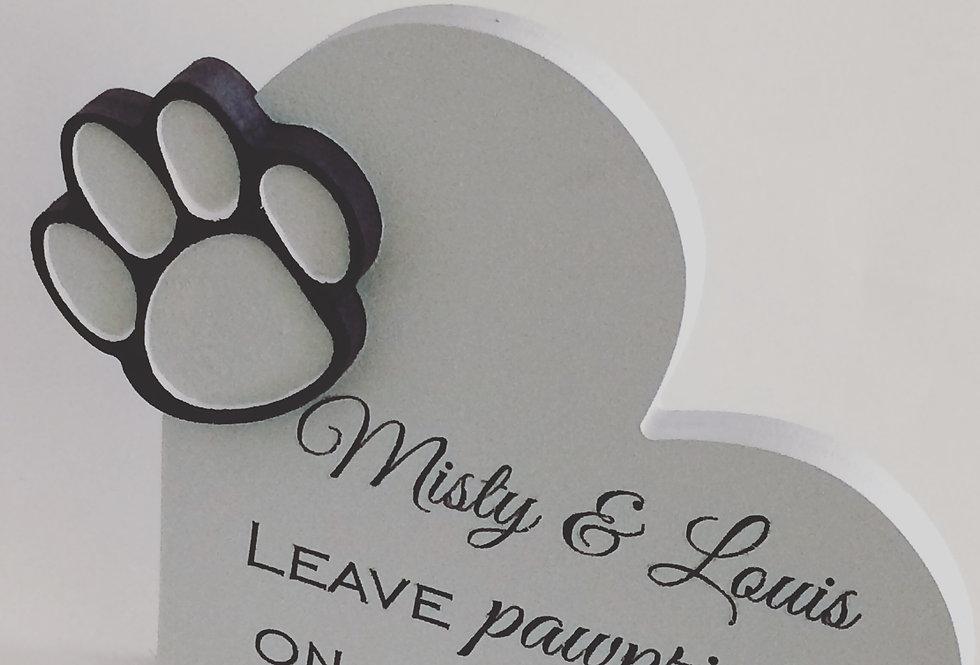 Pet Remembrance Name Plaque