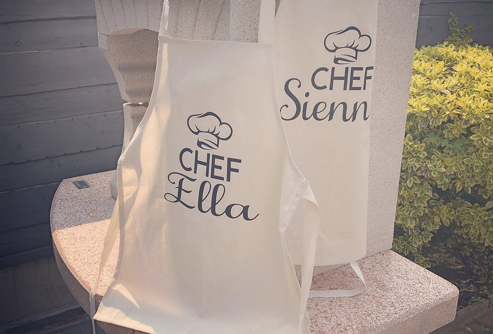 Personalised Chef Name Apron