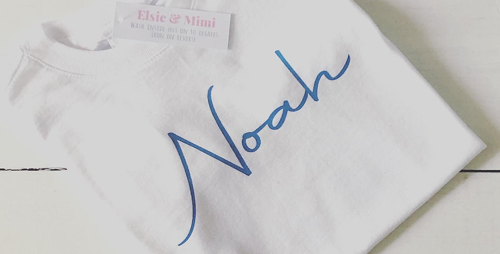 Personalised Baby and Children's Name T Shirts