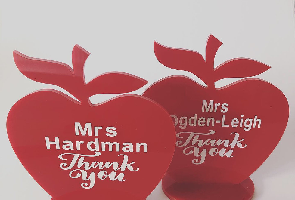 Personalised Acrylic Teacher Apple Gift
