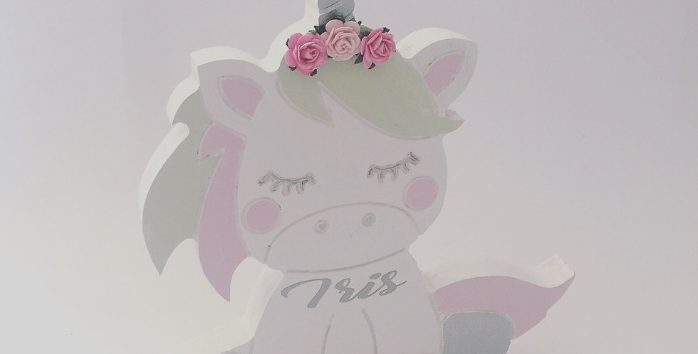 Personalised Handpainted Freestanding Unicorn