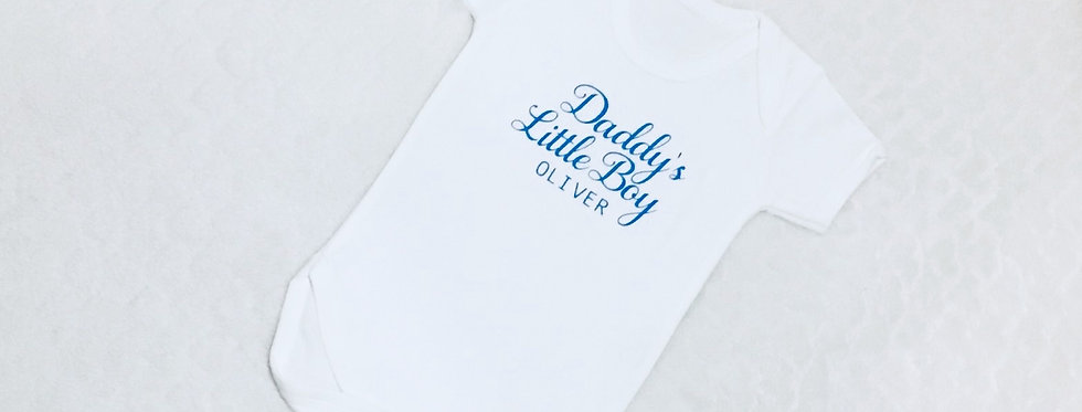 Personalised 'Daddy's / Mummy's Little Girl / Boy' Baby Vest