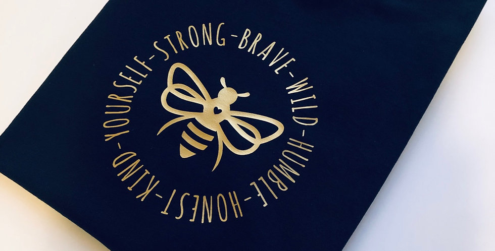 Bee Circular Design Custom T Shirt