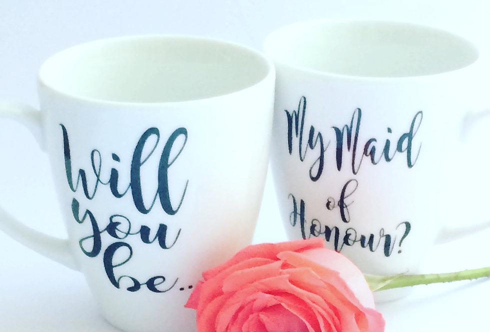 Personalised 'Will You Be..?' Mug