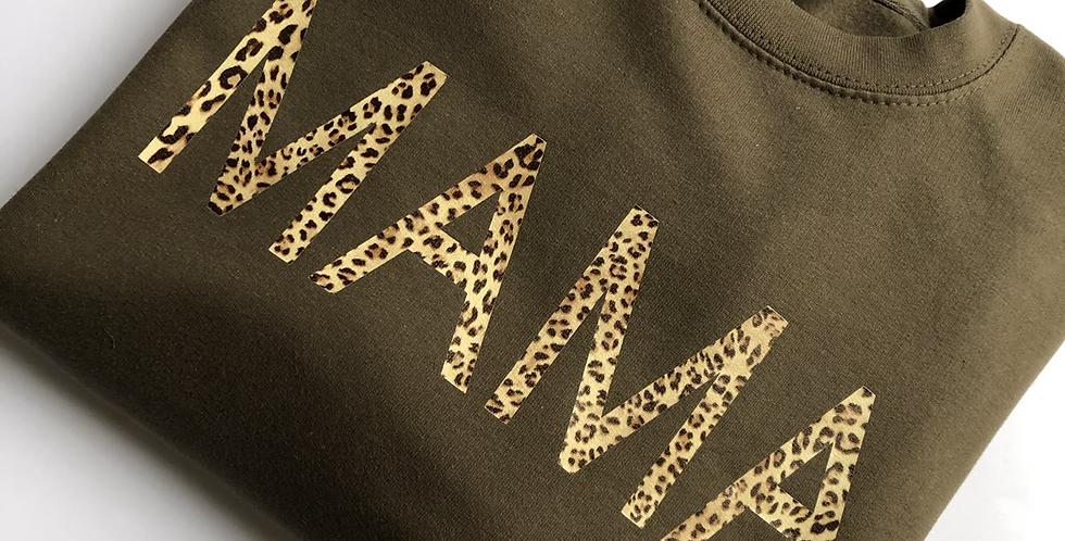 Olive Green 'MAMA' Sweatshirt