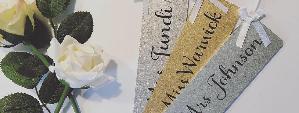 Personalised Wooden Teacher Bookmark