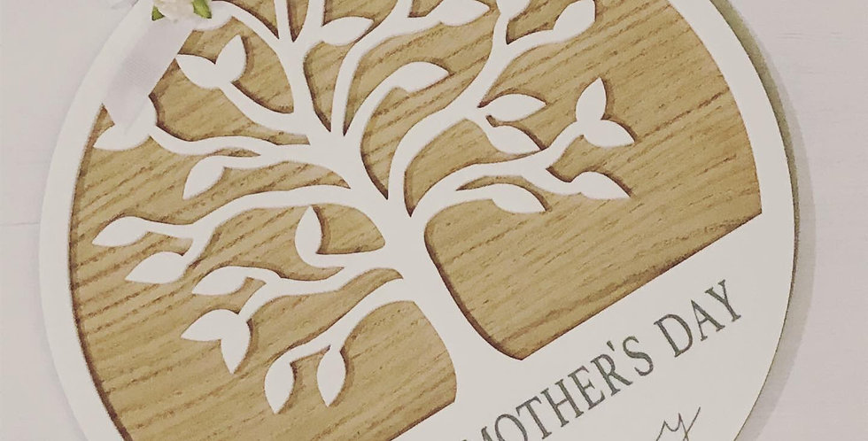 Mother's Day Tree Plaque