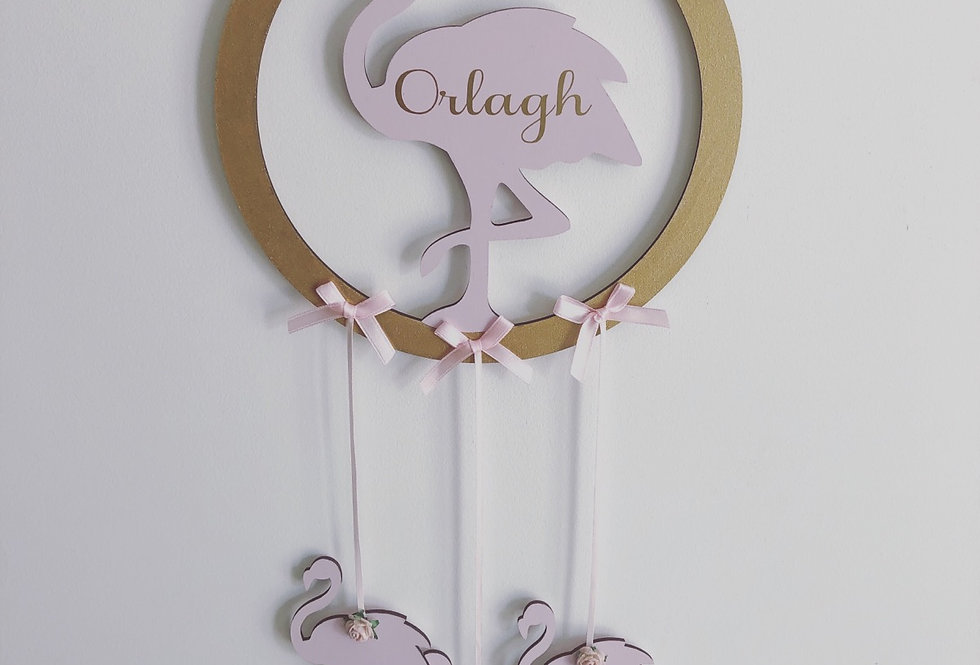Personalised Flamingo Dream Catcher